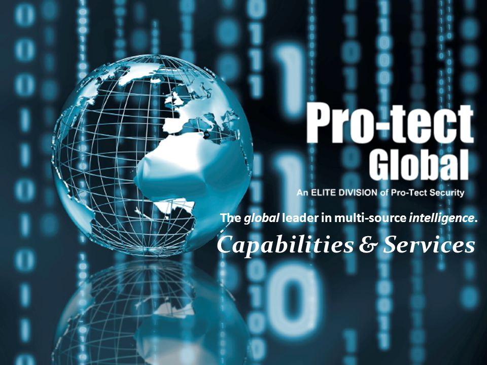 Capabilities Brief The global leader in multi-source intelligence. Capabilities & Services
