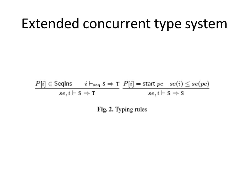 Extended concurrent type system