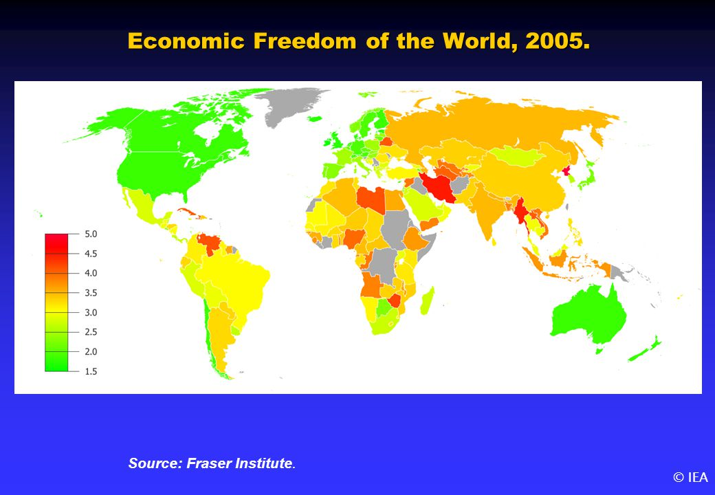 © IEA Economic Freedom of the World, 2005. Source: Fraser Institute.