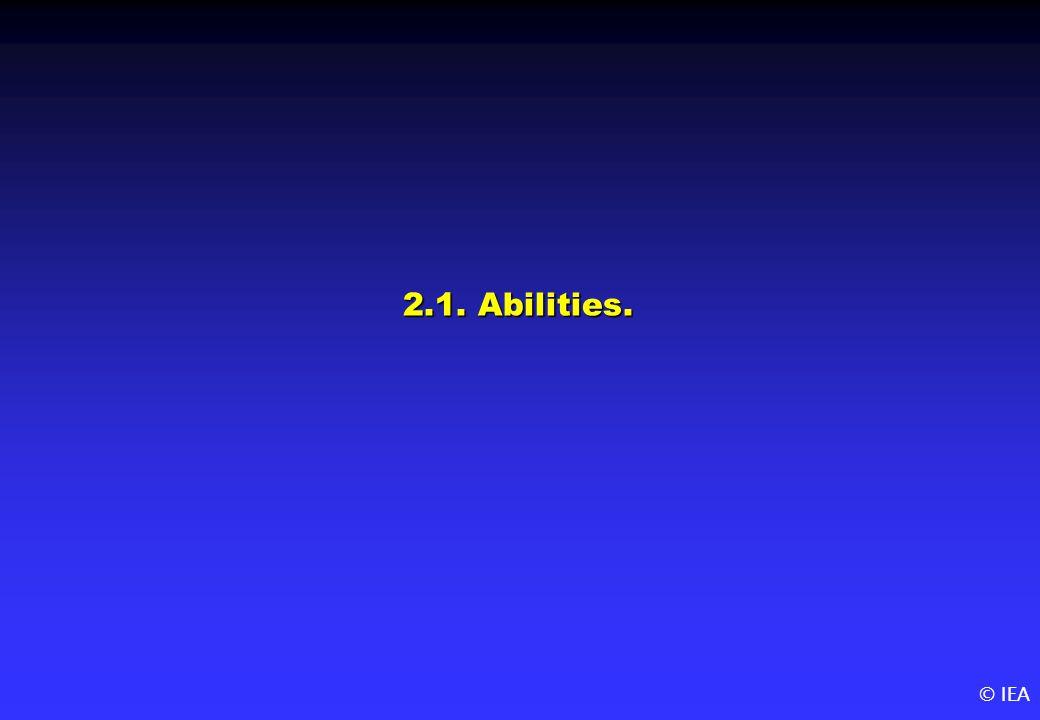 © IEA 2.1. Abilities.