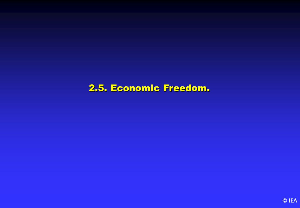 © IEA 2.5. Economic Freedom.