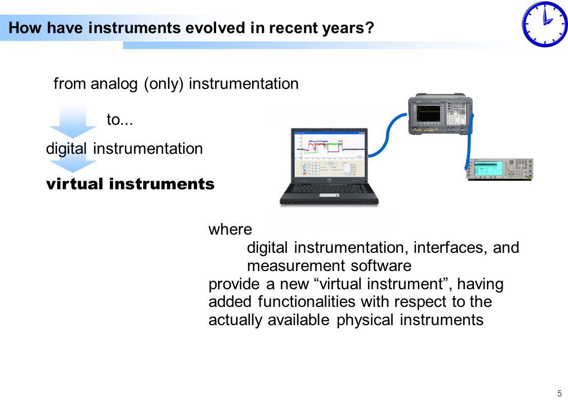 5 from analog (only) instrumentation How have instruments evolved in recent years.