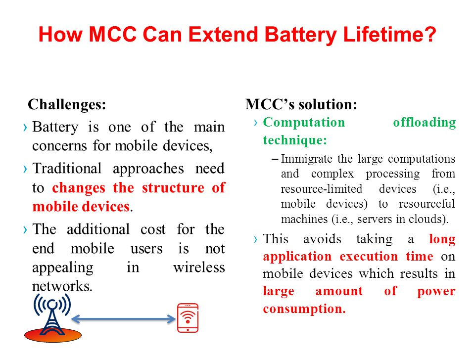 How MCC Can Extend Battery Lifetime.