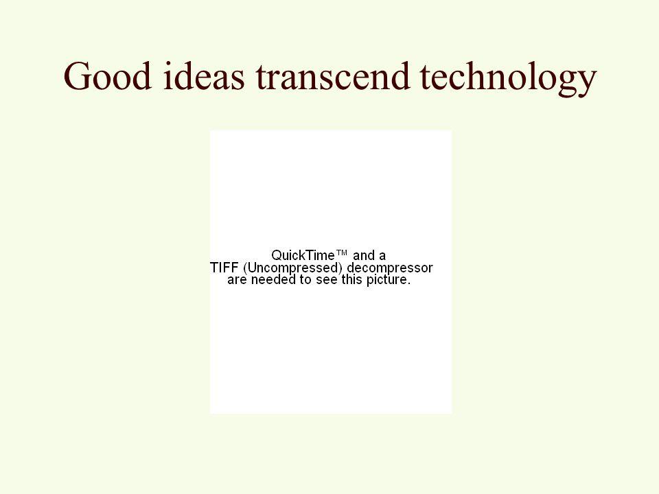 Good ideas transcend technology