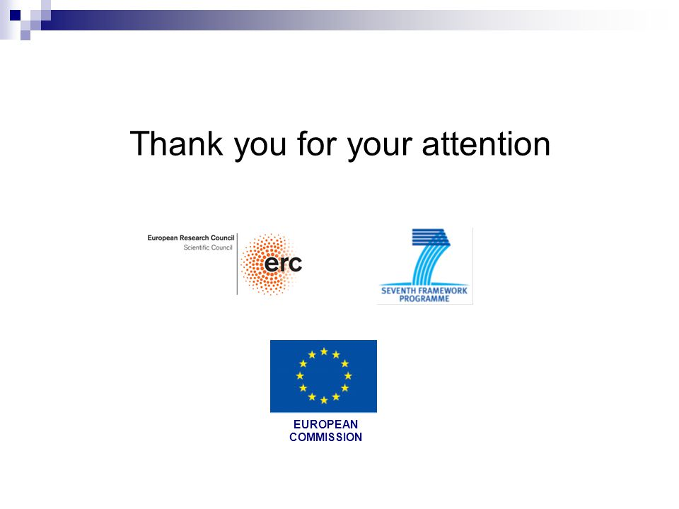 Thank you for your attention 7FP EUROPEAN COMMISSION