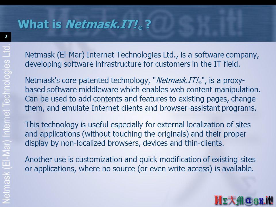3 Internet Web site Transformation rules Localizer Netmask.IT.