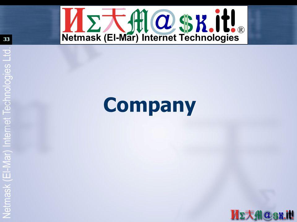 33 Company ® Netmask (El-Mar) Internet Technologies