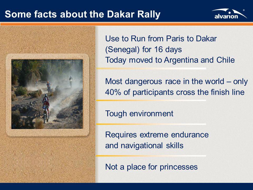 Proprietary Informatiom. From Formula 1 to Paris – Dakar From Formula 1 to