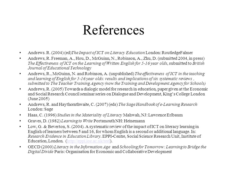 References Andrews. R.