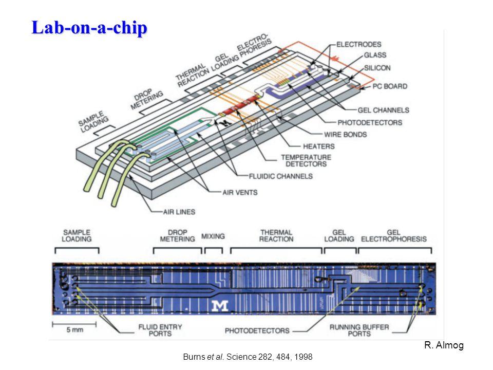 Lab-on-a-chip Burns et al. Science 282, 484, 1998