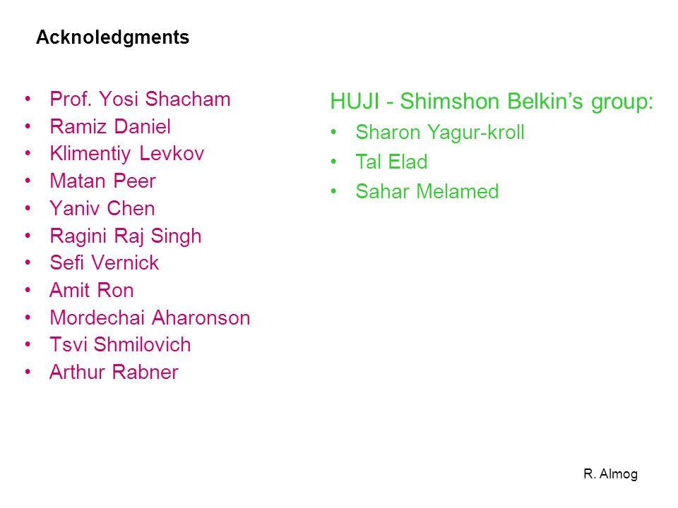 Acknoledgments Prof. Yosi Shacham Ramiz Daniel Klimentiy Levkov Matan Peer Yaniv Chen Ragini Raj Singh Sefi Vernick Amit Ron Mordechai Aharonson Tsvi