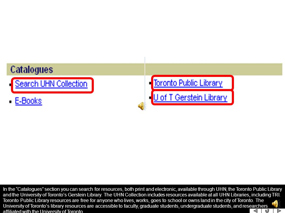 Databases are used to search for literature on specific topics or questions.