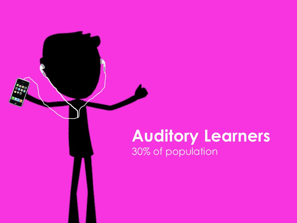 Auditory Learners 30% of population