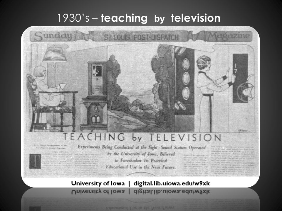 1930s – teaching by television