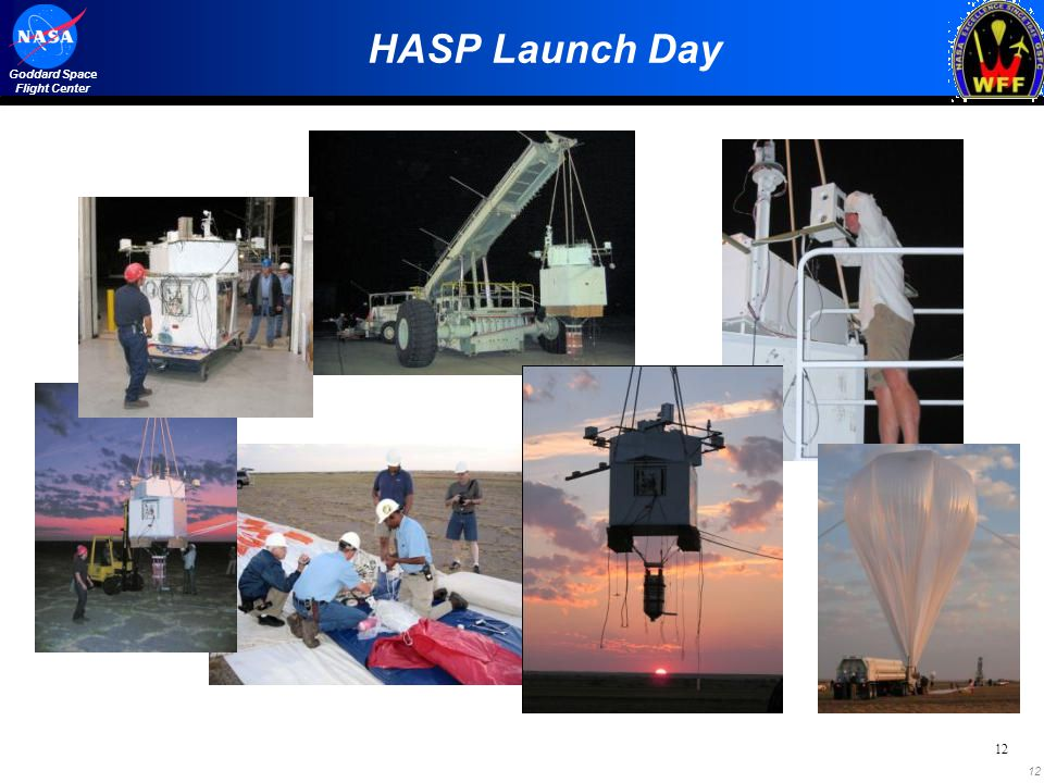 12 Goddard Space Flight Center 12 HASP Launch Day