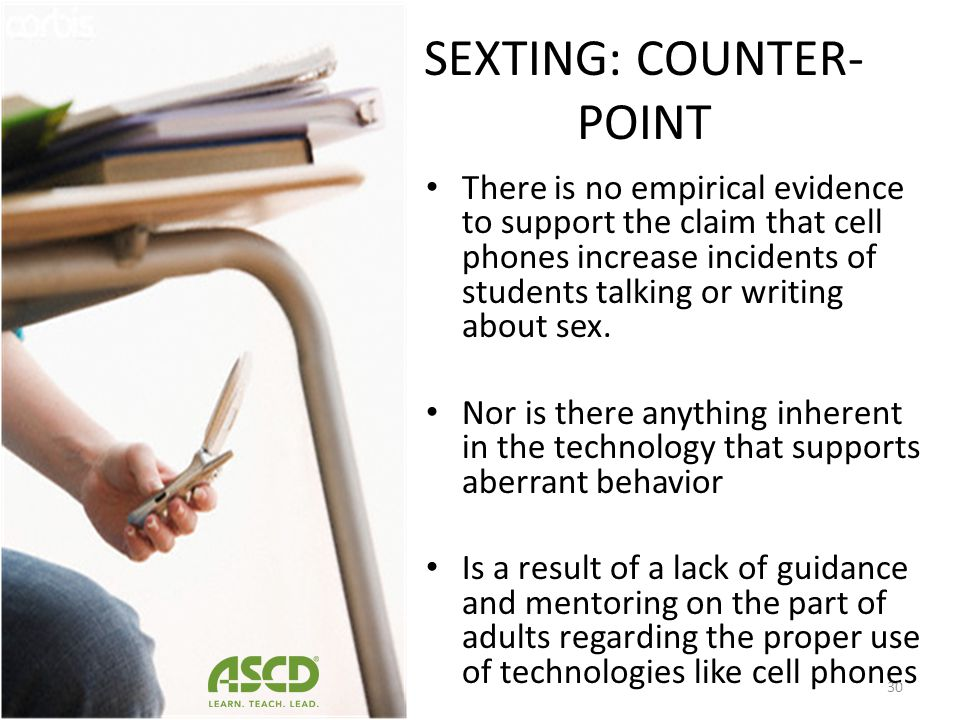 SEXTING: POINT Students have also used mobile phones to secretly take inappropriate photographs of peers and texts these images to someone else. – St.