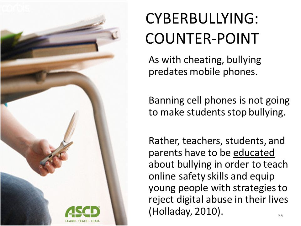 CYBERBULLYING: POINT 26% of teens have been harassed through their mobile phone either by calls or text messages – (Lenhart et al., 2010) Often times,