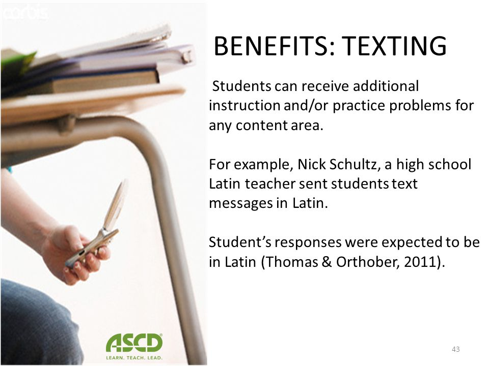 Student perspective, cell phones allow them to multitask (Lu, 2008; Yerushalmy & Ben-Zaken, 2004) by accessing course material, conducting research vi