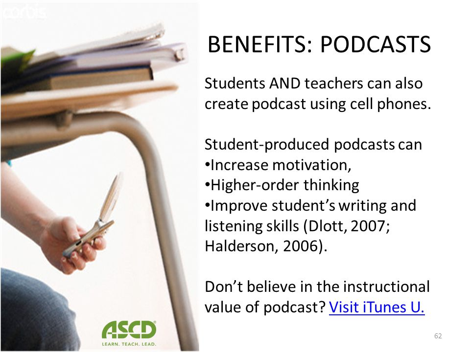 BENEFITS: APPS International Society for Technology in Education (ISTE) has apps for Geography (Beautiful Planet HD), Mathematics (Bloomberg), Art (Br