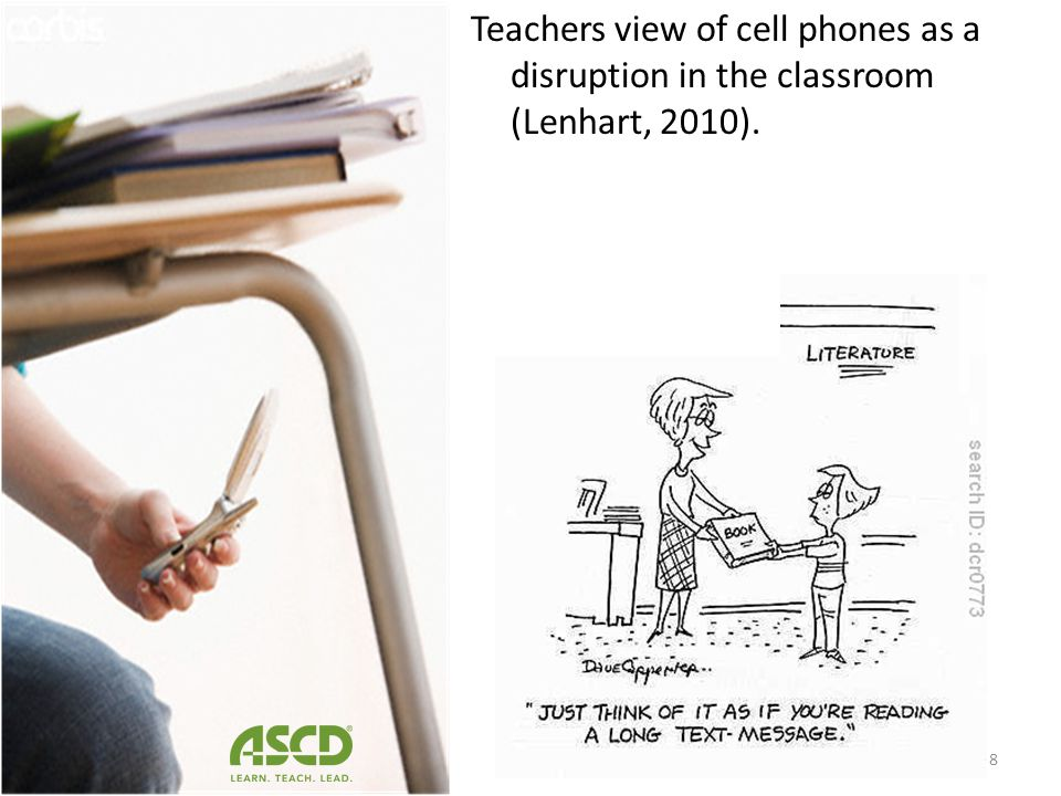 69% percent of American high schools ban cell phone use or possession on school grounds (CommonSense, 2010). 7