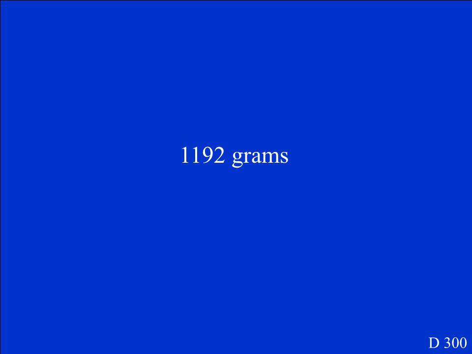Convert 16 moles of KCl to grams D 300