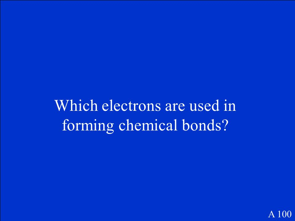 100 10100 200 300 400 500 Bonding Polarity & Geometry Writing and Balancing Equations Moles Percent Composition & Empirical & Molecular formulas Miscellaneo us