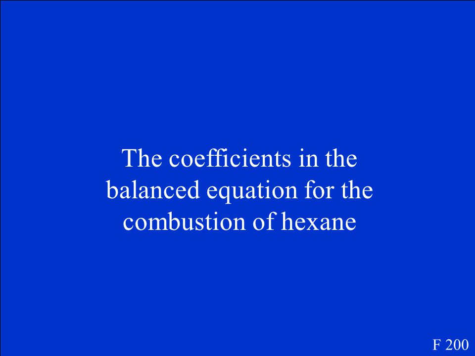 Law of Conservation of Mass F 100