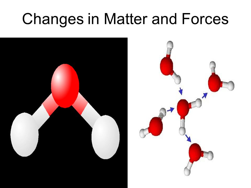 Changes in Matter and Forces.