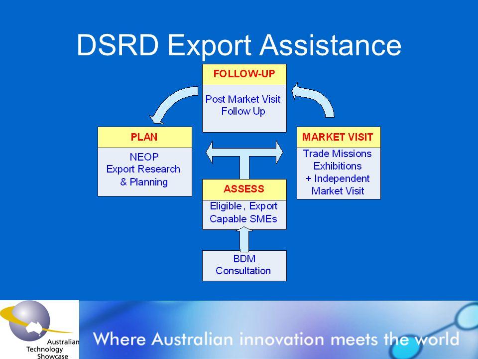 DSRD Export Assistance