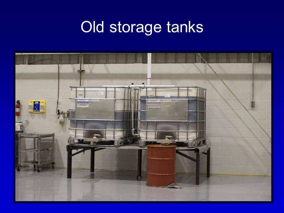 Old storage tanks