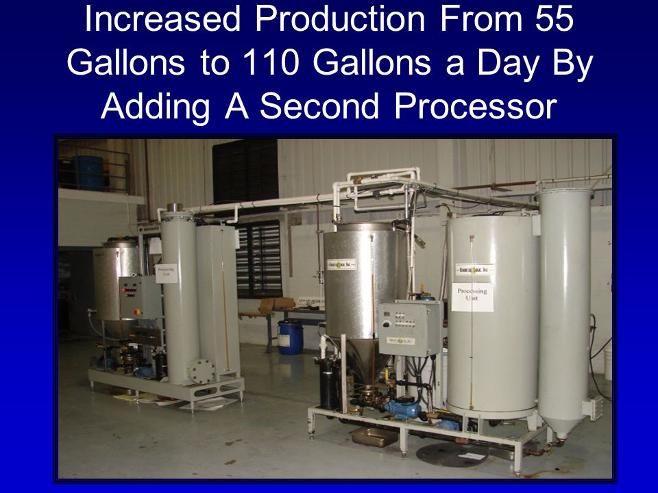 Increased Production From 55 Gallons to 110 Gallons a Day By Adding A Second Processor