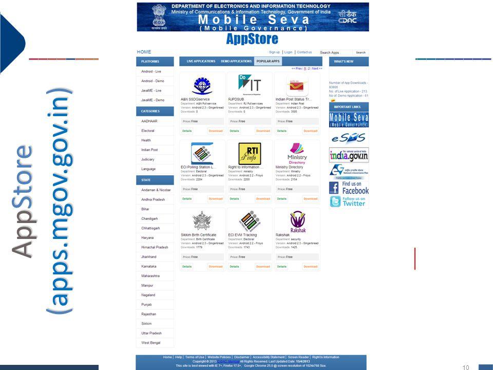 10 AppStore (apps.mgov.gov.in) AppStore (apps.mgov.gov.in)
