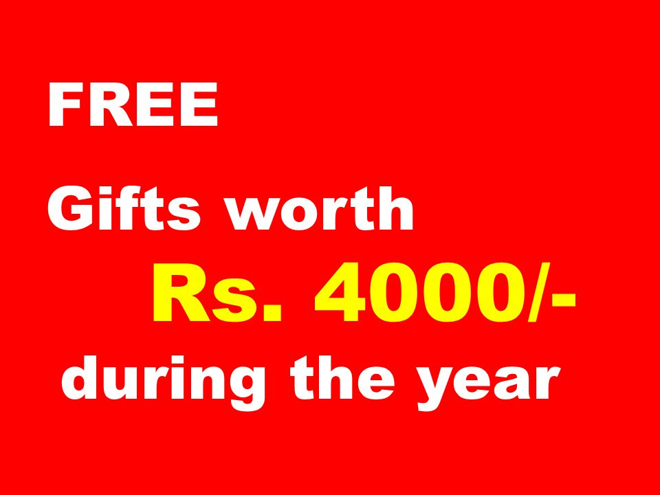 FREE Talk time on your mobile of Rs 500/- per month for 12 months (Rs 6000/-)