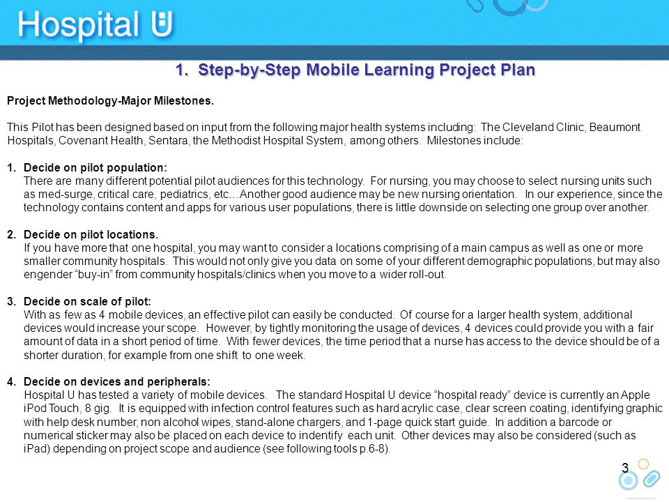 1.Step-by-Step Mobile Learning Project Plan Project Methodology-Major Milestones.