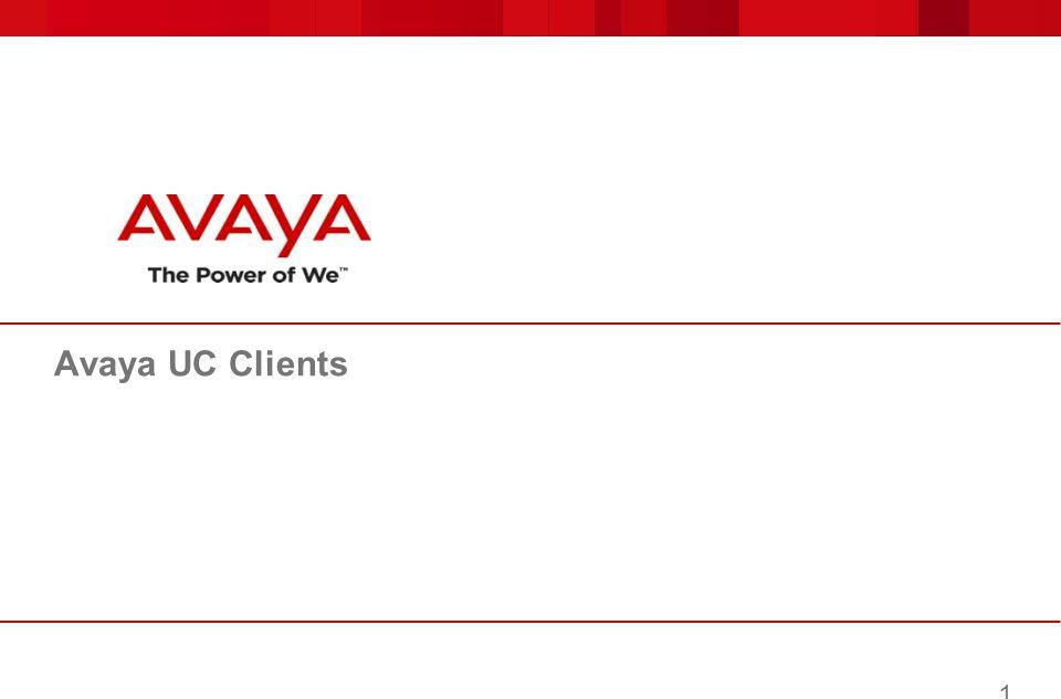 Avaya UC Clients 1