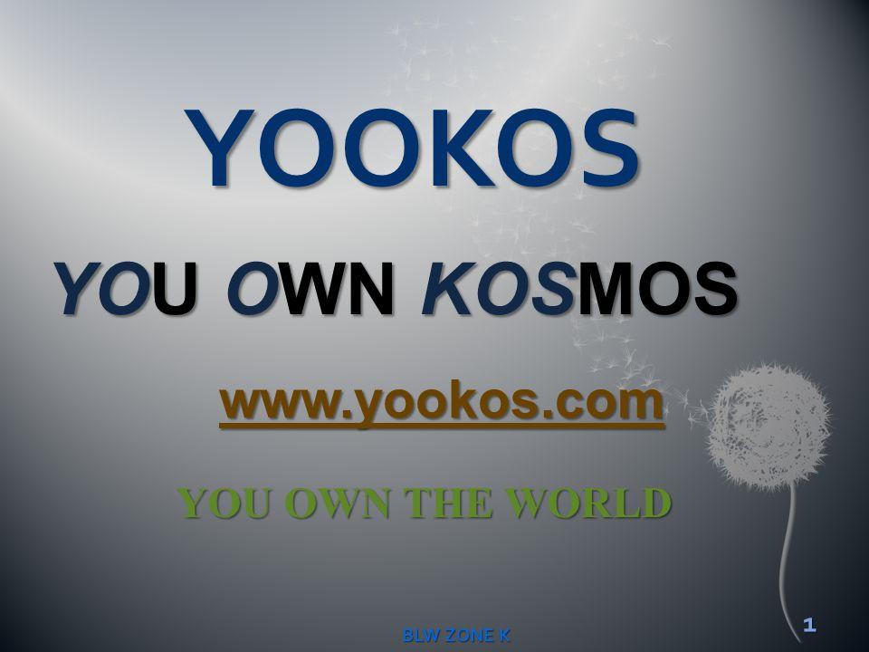 YOOKOS YOU OWN KOSMOS YOU OWN THE WORLD 1 BLW ZONE K www.yookos.com