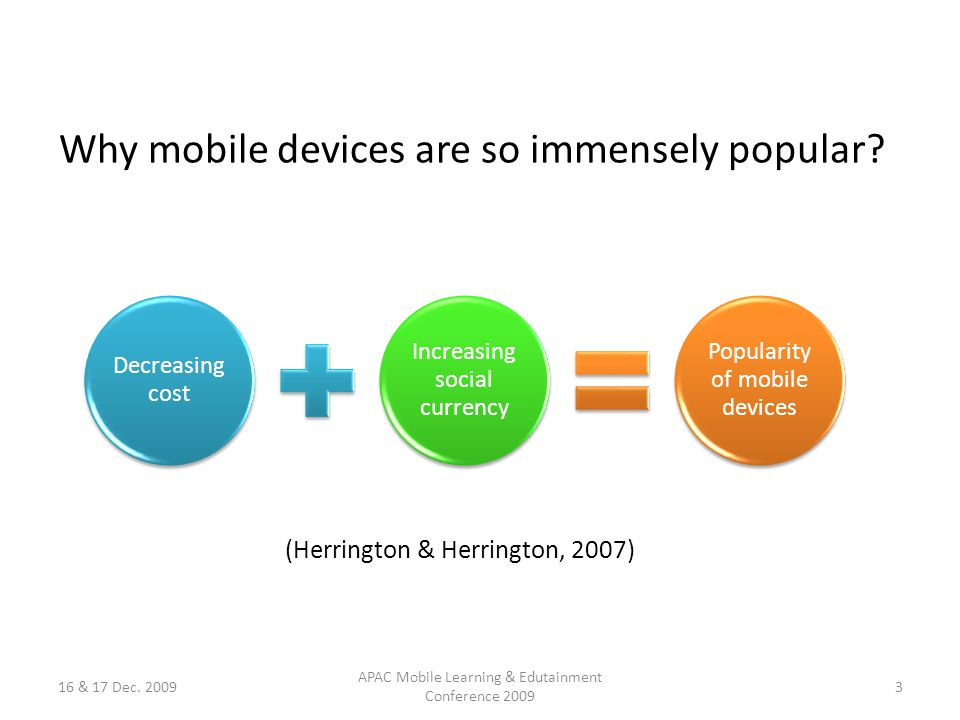 Why mobile devices are so immensely popular.
