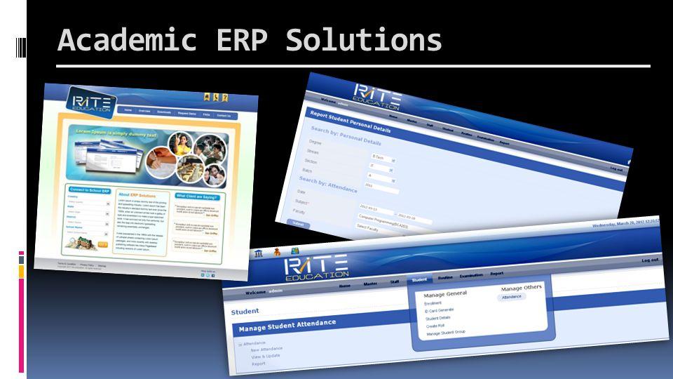 Academic ERP Solutions
