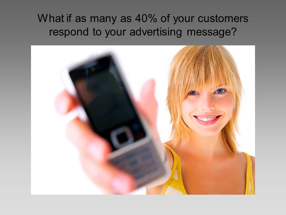 What if as many as 40% of your customers respond to your advertising message