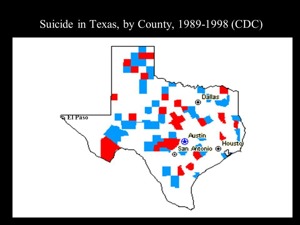 Suicide in Texas, by County, 1989-1998 (CDC) El Paso