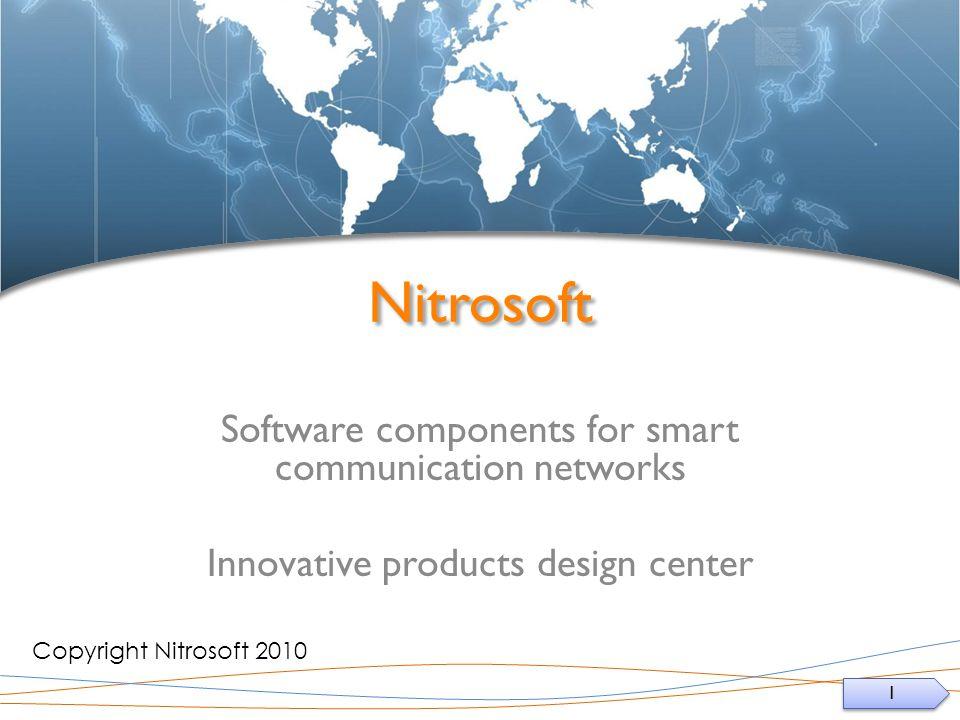 1 1 Nitrosoft Software components for smart communication networks Innovative products design center Copyright Nitrosoft 2010