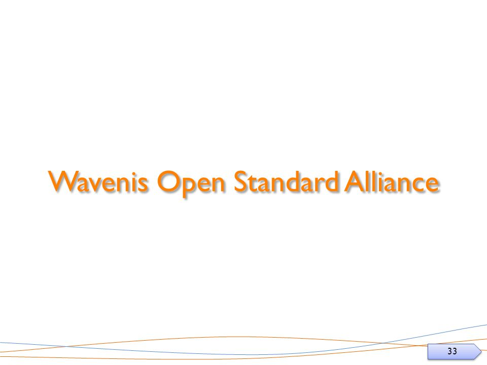 33 Wavenis Open Standard Alliance