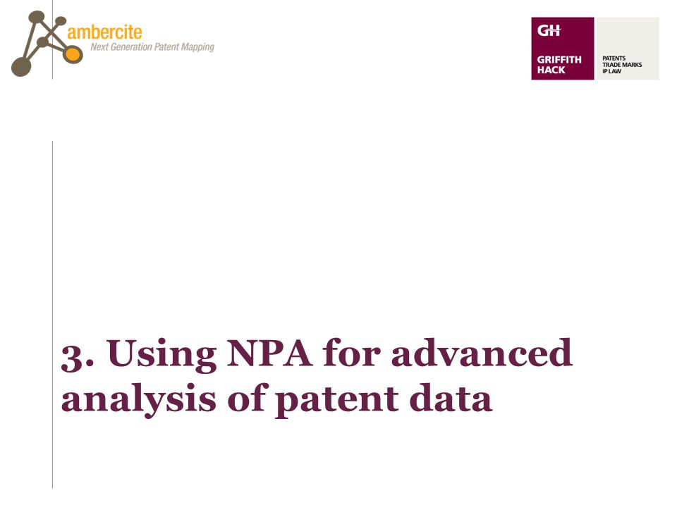3. Using NPA for advanced analysis of patent data
