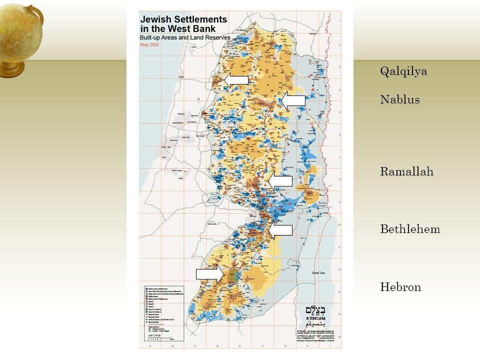 Qalqilya Nablus Ramallah Bethlehem Hebron