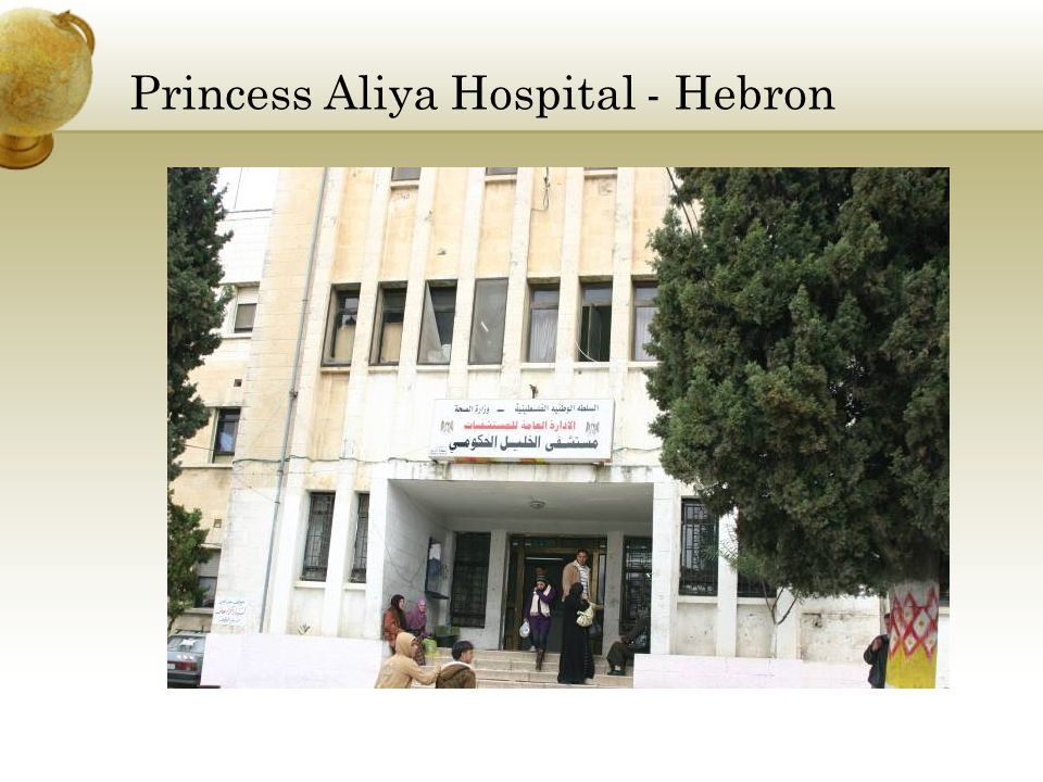 Princess Aliya Hospital - Hebron