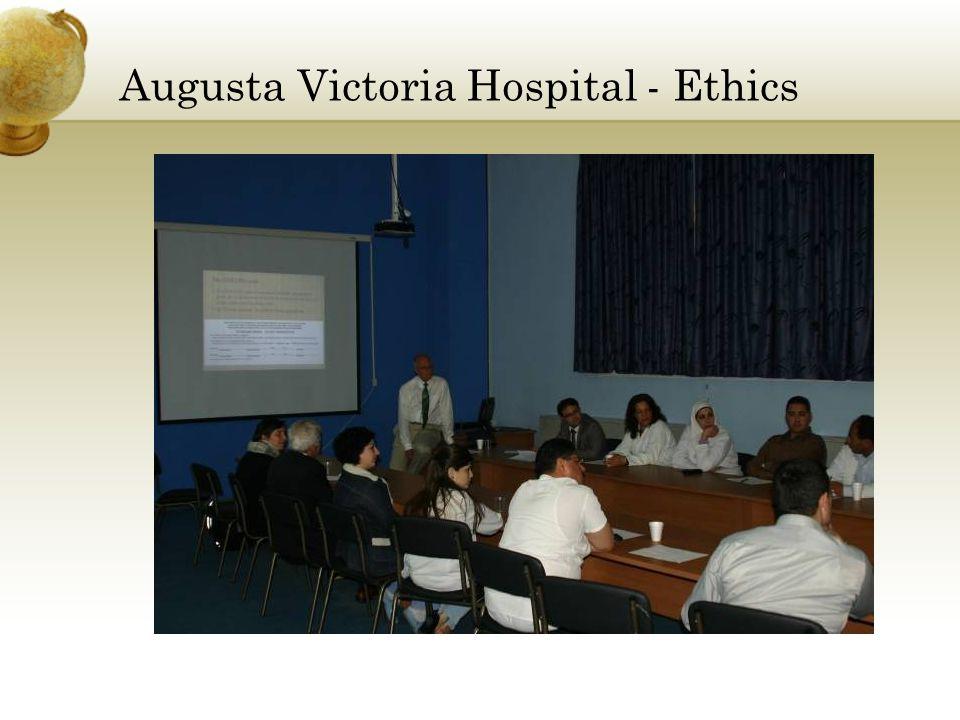 Augusta Victoria Hospital - Ethics