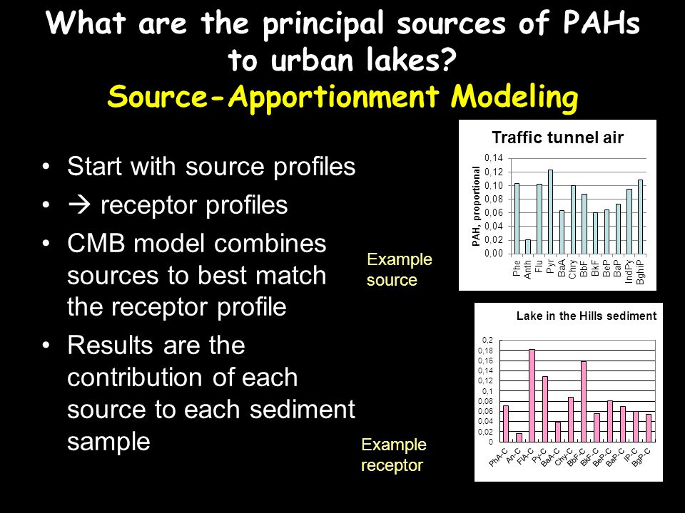 What are the principal sources of PAHs to urban lakes.