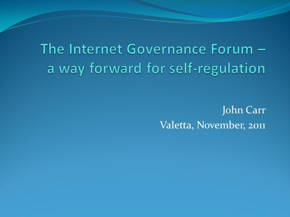 John Carr Valetta, November, 2011