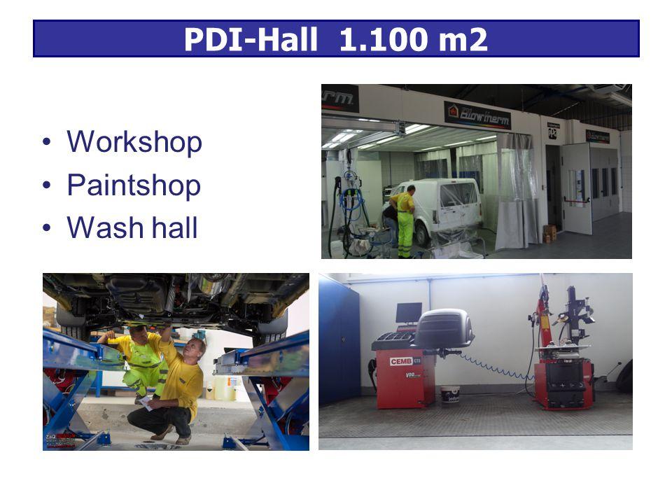 PDI-Hall 1.100 m2 Workshop Paintshop Wash hall