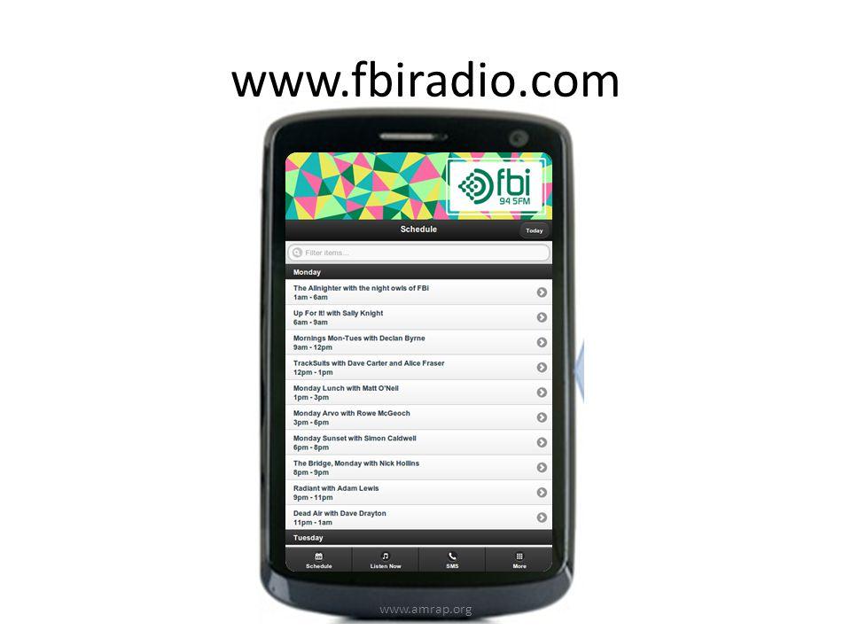 www.fbiradio.com www.amrap.org